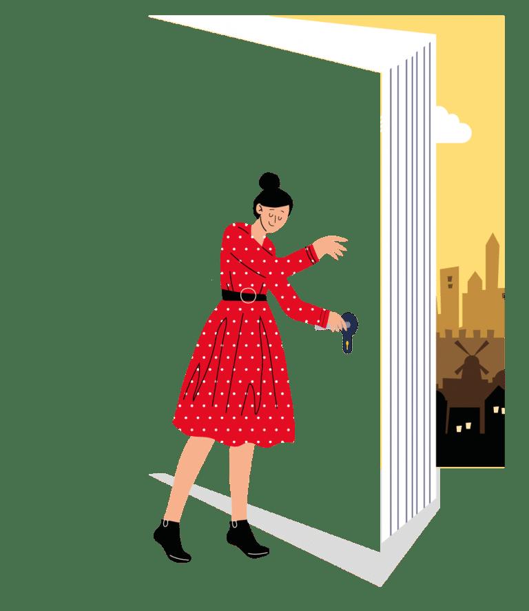 איור של אפרתה והדלתות נפתחות